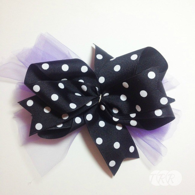Stacked Halloween Bow - The Ribbon Retreat Blog