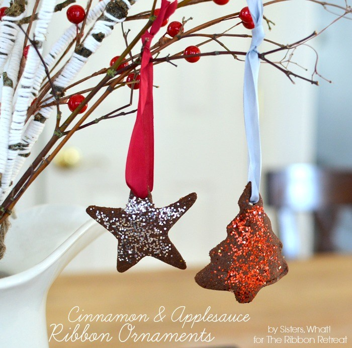 Cinnamon and Applesauce Ribbon Ornaments - The Ribbon Retreat Blog
