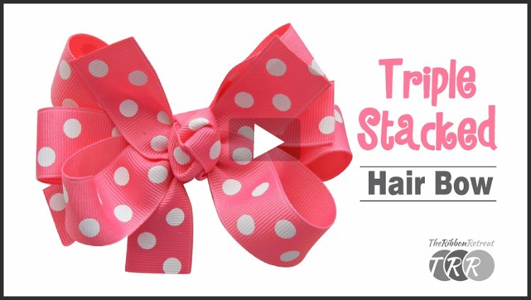 How To Make A Triple Stacked Hair Bow, YouTube Thursdays