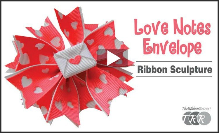 How To Make An Envelope Ribbon Sculpture, YouTube Thursday
