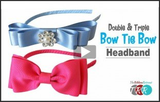 How To Make A Double and Triple Bow Tie Bow, YouTube Thursday