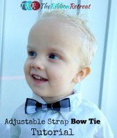 Adjustable Strap Bow Tie Tutorial