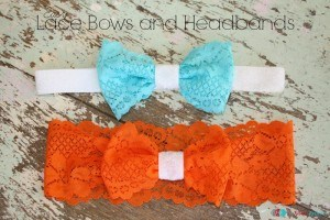 Easy Lace Bows and Headbands