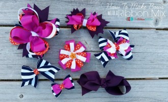How to Make Hair Bows with a Ribbon Mix