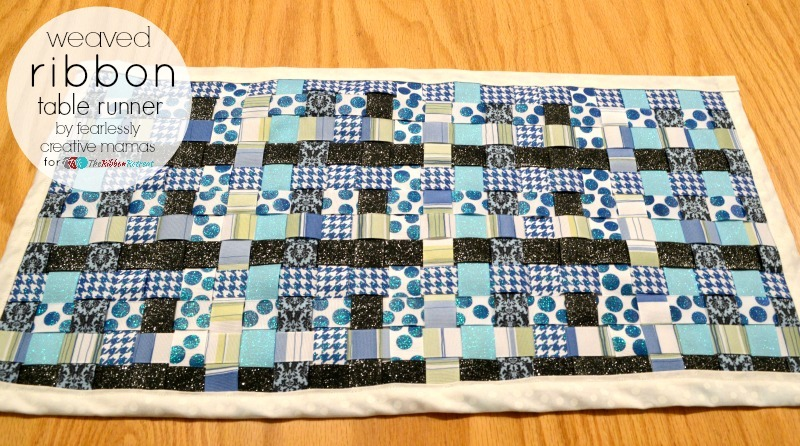 Weaved Ribbon Table Runner - The Ribbon Retreat Blog