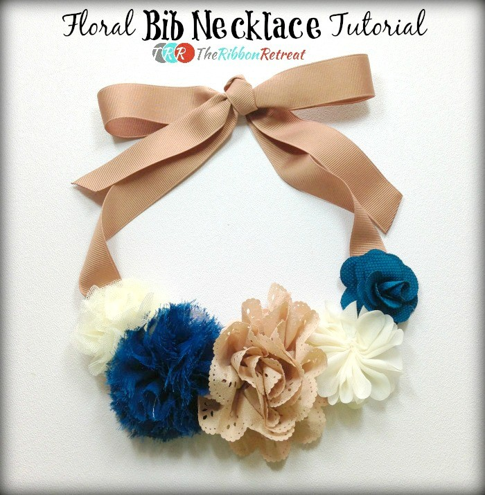 Floral Bib Necklace - The Ribbon Retreat Blog