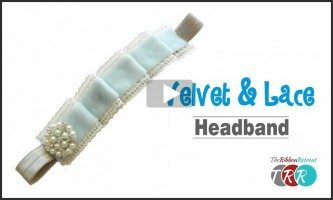 Pleated Lace and Velvet Headband, YouTube Thursday