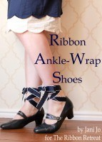 Ribbon Ankle-Wrap Shoes