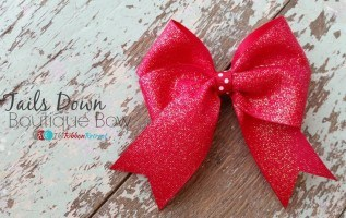 How To Make A Tails Down Boutique Bow