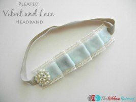 Pleated Velvet and Lace Headband Tutorial