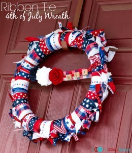 Ribbon Tie 4th of July Wreath - The Ribbon Retreat Blog