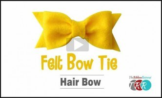 Felt Bow Tie Hair Bow, YouTube Thursday