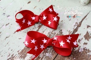 How To Make A Two Loop Topper Hair Bow
