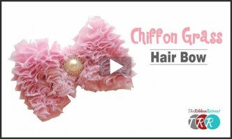 Chiffon Grass Hair Bow, YouTube Video