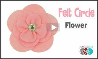 Felt Circle Flower, YouTube Video
