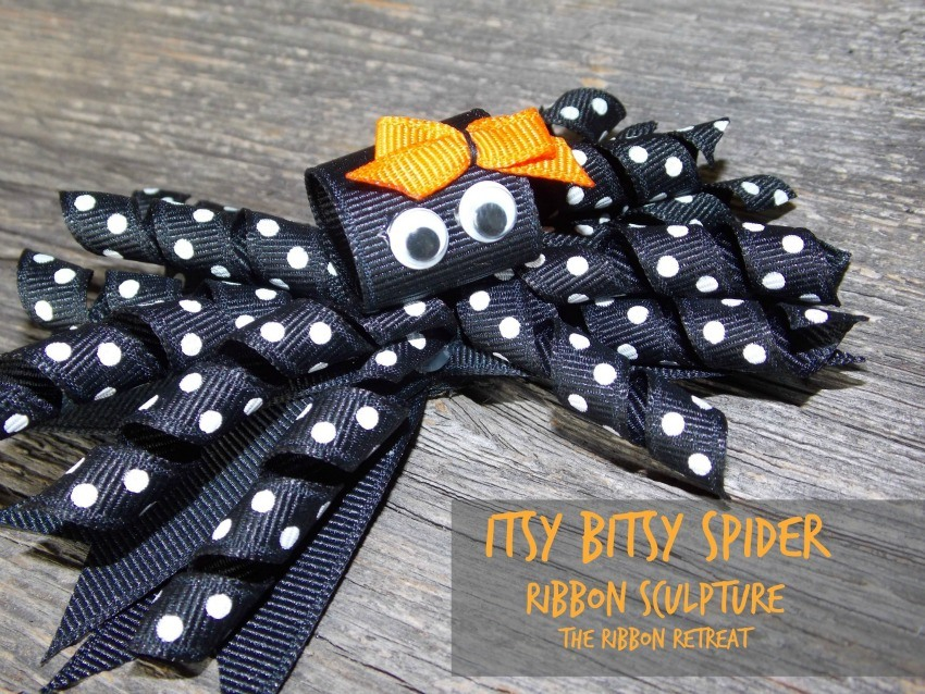 Itsy Bitsy Spider Ribbon Sculpture - The Ribbon Retreat Blog