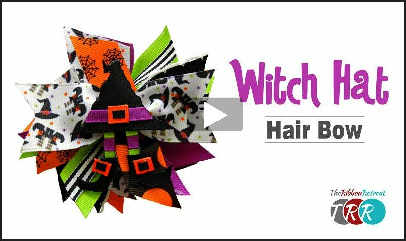 Witch Hat Hair Bow, YouTube Video - The Ribbon Retreat Blog
