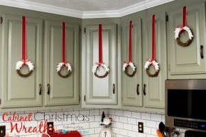 Cabinet Christmas Wreaths