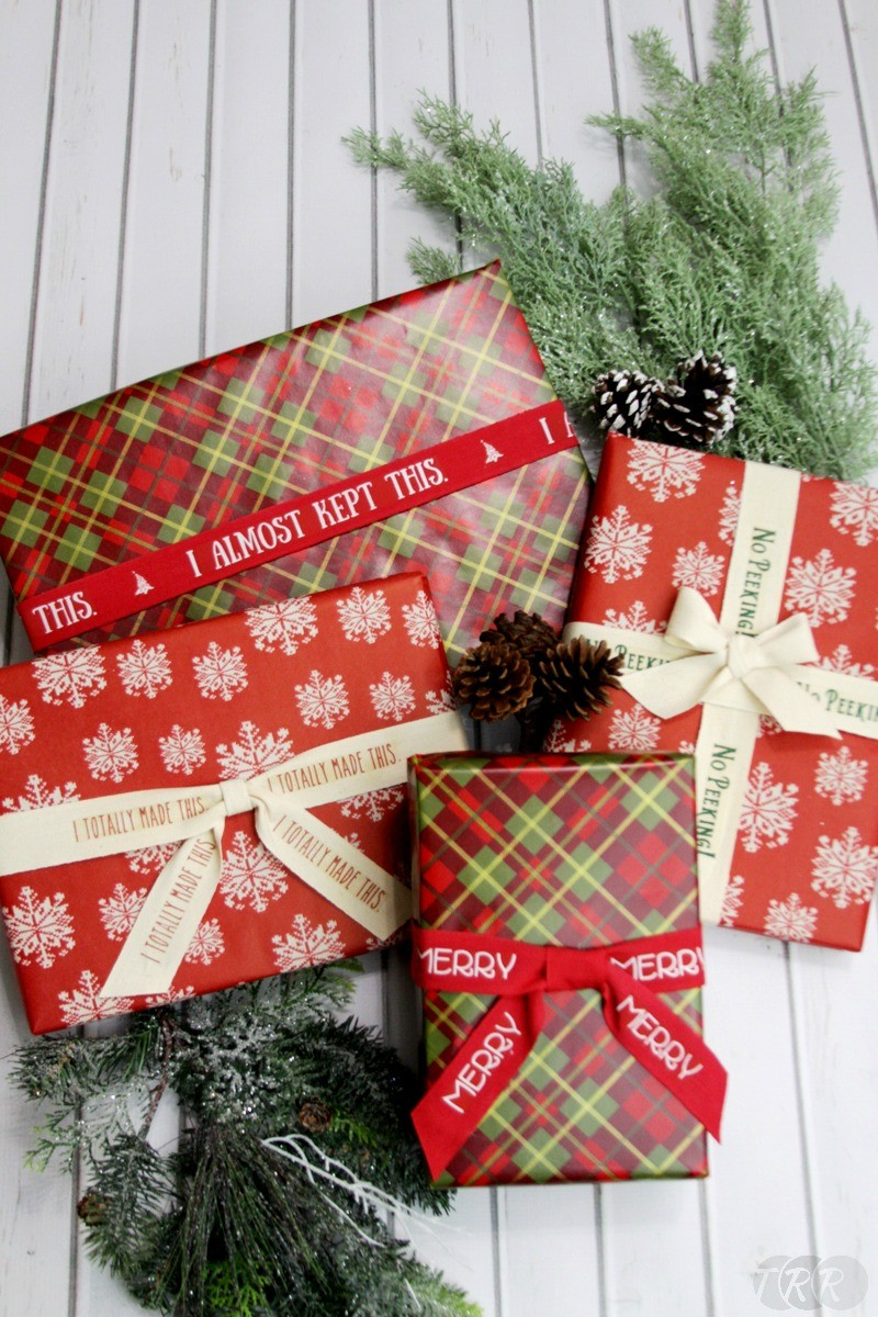 Easy Personalized Christmas Ribbons - The Ribbon Retreat Blog