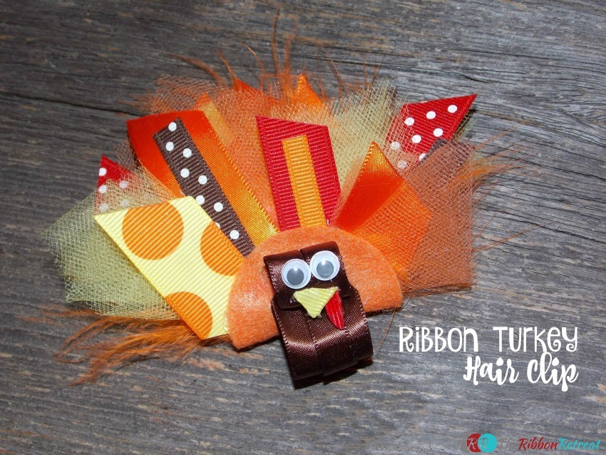Ribbon Turkey Hair Clip - The Ribbon Retreat Blog