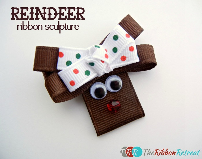 Reindeer Ribbon Sculpture ~ The Ribbon Retreat Blog