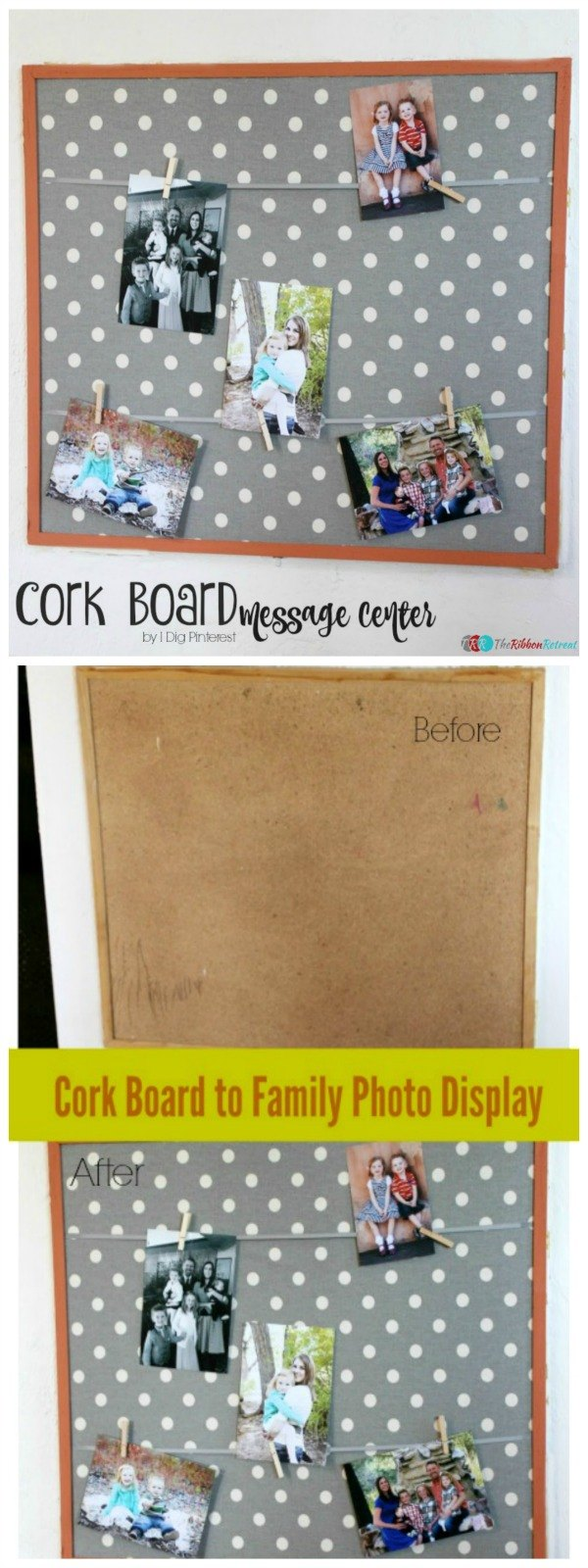 Cork Board Message Center - The Ribbon Retreat Blog