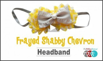 Frayed Shabby Chiffon Flower Headband, YouTube Video