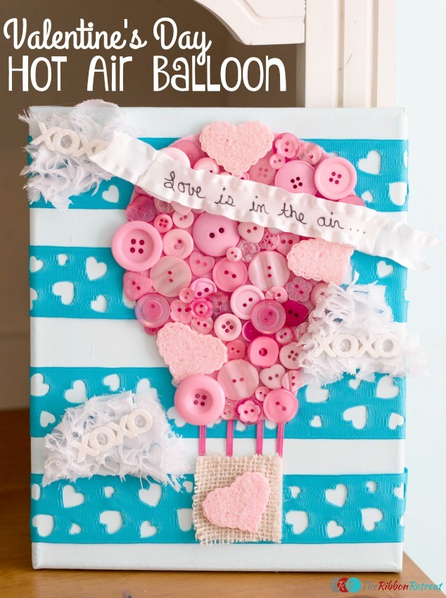 Valentine's Day Hot Air Balloon Home Decor - The Ribbon Retreat Blog