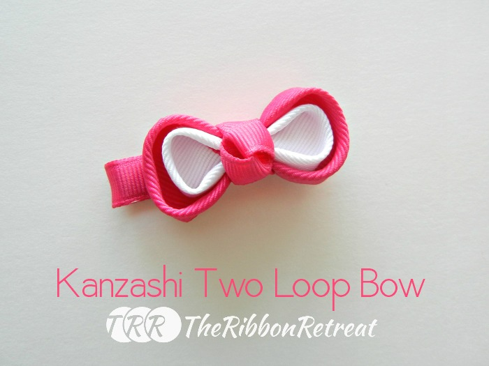 Kanzashi Two Loop Bow ~ The Ribbon Retreat Blog