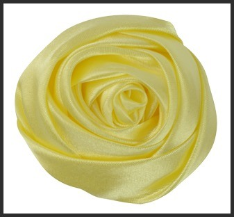 Yellow Large Satin Rolled Roses