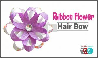 Ribbon Flower Hair Bow,  The Ribbon Retreat Blog