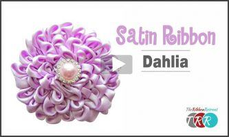 Satin Ribbon Dahlia, YouTube Video
