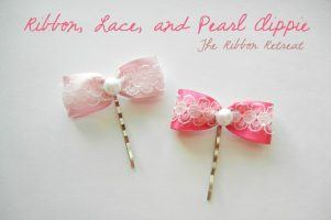Ribbon, Lace and Pearl Clippie