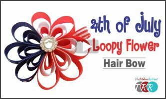 4th of July Loopy Flower Hair Bow, YouTube Video