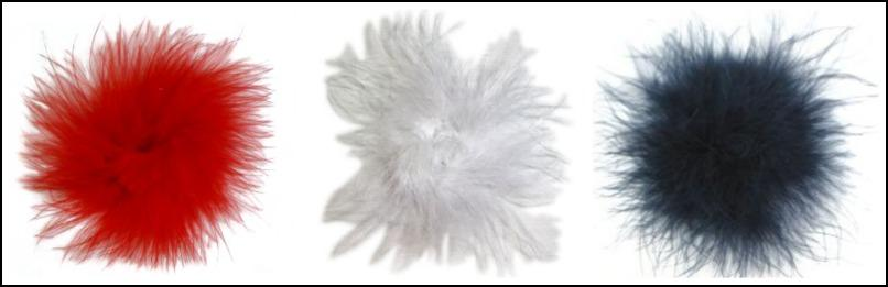 Red, White and Blue Marabou Puff