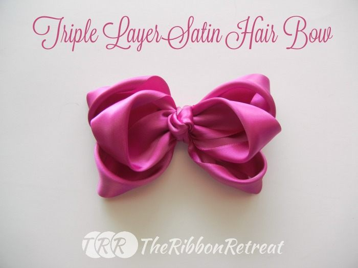 Triple Layer Satin Hair Bow ~ The Ribbon Retreat Blog