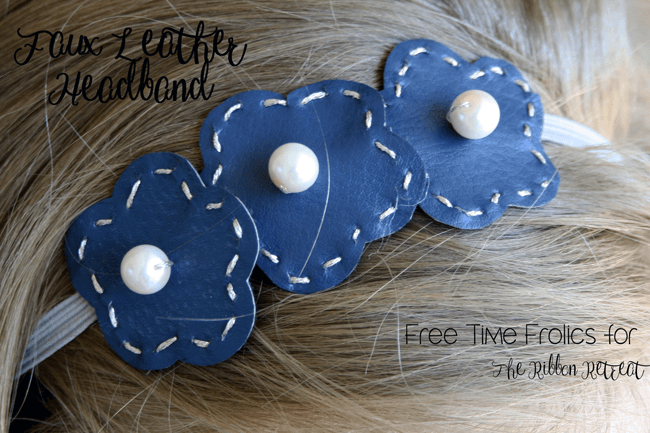 Faux Leather Hair Accessories - The Ribbon Retreat Blog