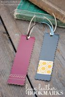 Faux Leather Bookmarks