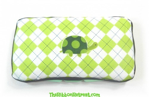 How To Cover A Travel Wipes Case - {The Ribbon Retreat Blog}
