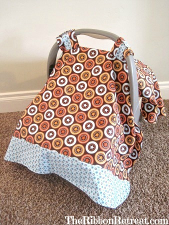 How To Make a Car Seat Tent - {The Ribbon Retreat Blog}
