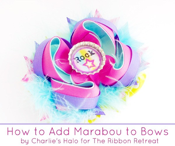Learn how to add marabou to bows for that extra fun flair!