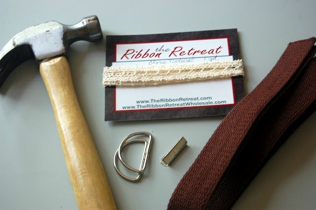 Supplies for the Cotton Webbing & Lace belt.