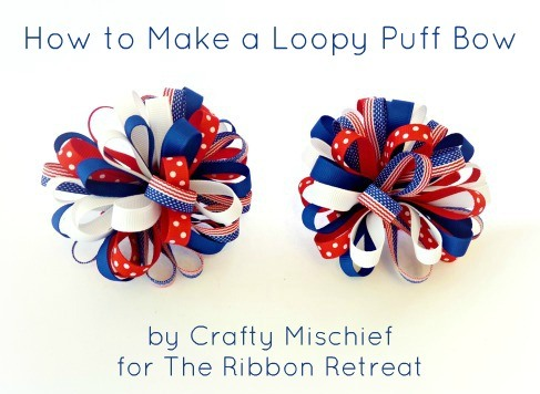Learn how to make these popular Loopy Puff Bows using ribbon from The Ribbon Retreat!