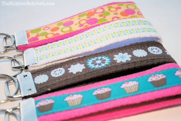 Make fun and easy Key Fobs with a tutorial from The Ribbon Retreat