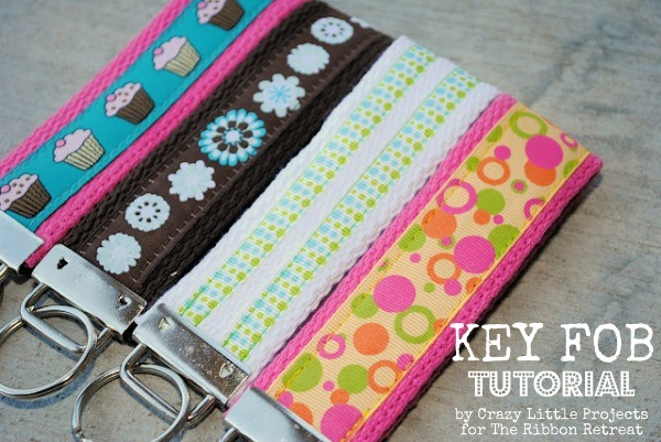 Key Fobs are quick, easy, low cost gifts that are great for everyone! Perfect for beginner sewers.