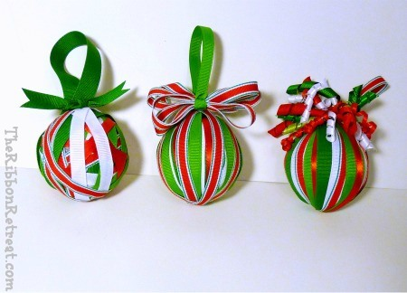 Ribbon Wrapped Christmas Ornament The Ribbon Retreat Blog
