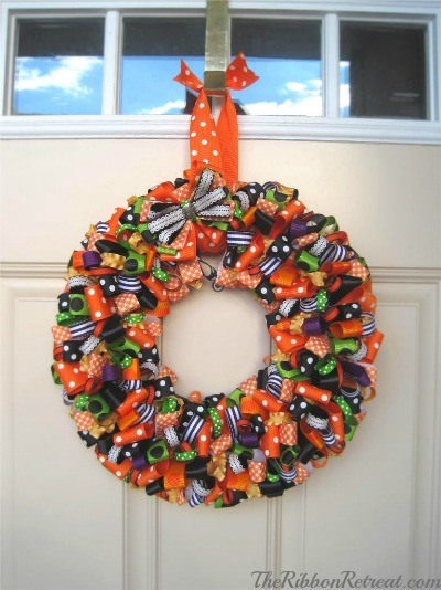 Ribbon Wreath - {The Ribbon Retreat Blog}