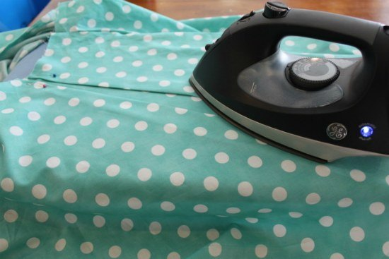 Create pleats then iron and sew along the top