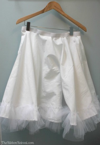 Tulle Slip with Elastic Waistband