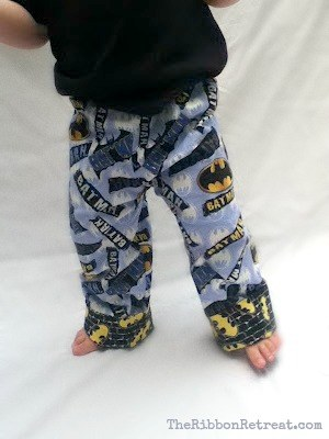 One seam cuffed pajama pants.
